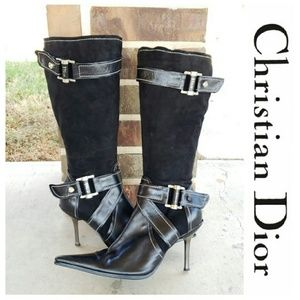 Dior Stiletto Leather Boots
